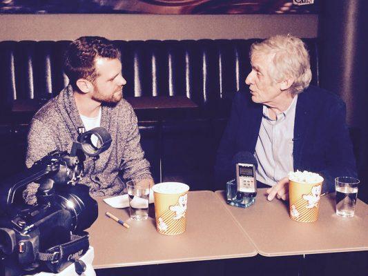 Norman Baumgartner mit Roger Spottiswoode